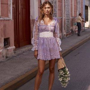 For Love and Lemons Valentina Lace Mini Dress